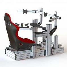 Welcome to the Sim Race Components Silver configurator! In this section you can build the sim racing rig that best suits your needs. Computer Gaming Room, Gaming Room Setup, Computer Setup, Flight Simulator Cockpit, Racing Simulator, Floating Bed Diy, Gaming Pc Build, Racing Seats, Tech House
