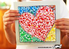 Valentine's day art? Dot art with the end of pencils, and lots of  printable templates