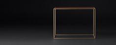 Monroe Slimline Rectangle/Square Occasional - Walnut | RH Modern