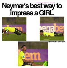 He's just the cutest person in the world! Soccer Memes, Sports Memes, Funny Soccer, Football Is Life, Sport Football, Neymar Jr, Neymar Quotes, Love You Babe, Boyfriend Pictures