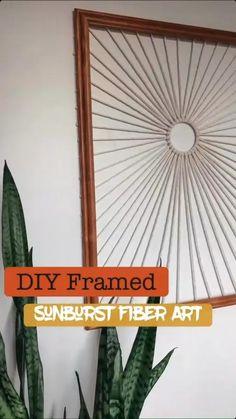 Diy Crafts For Home Decor, Fun Diy Crafts, Diy Arts And Crafts, Diy Upcycled Decor, Wall Decor Crafts, Creative Wall Decor, Cheap Wall Decor, Modern Crafts, Rope Crafts