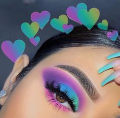Follow THE queen 👸🏽 @HappyH0ney for more poppin pins ❤️ #cosmetics #makeup #beauty Day Eye Makeup, Makeup Eye Looks, Eyeshadow Makeup, Makeup Cosmetics, Eyeshadow Looks, Makeup Monolid, Almay Makeup, Cute Eye Makeup, Eyeliner