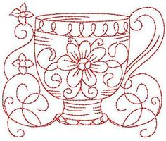 redwork embroidery patterns free - Google Search