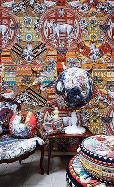 Kristjana S Williams, Aztec Snow Wall Mural http://www.dust.ie/collections/kristjana-s-williams/products/kristjana-s-williams-aztec-snow-wall-mural