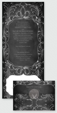 Chalkboard goes elegant. This Seal and Send Wedding Invitation makes inviting a snap - just fold, seal and send! Plus, you'll flip over the price tag! Cheap and chic!