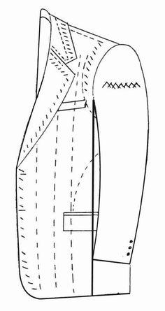 libro-pdf-sastreria-masculina-2014.pdf   Términos anatómicos de ubicación   Obesidad Coat Patterns, Clothing Patterns, Sewing Patterns, Bespoke Suit, Bespoke Tailoring, Fashion Sewing, Mens Fashion, Tailoring Techniques, Flat Sketches
