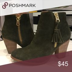 85c7a252563 Army green ankle booties Wore these cute booties once