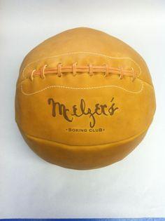 Glove Tan engraved 12lb Medicine Ball  Go to Leatherheadsports.com