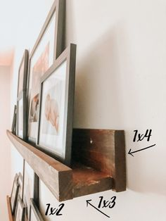 Picture Frame Shelves, Frame Shelf, Picture On Wood, Ikea Picture Ledge, Shelves With Pictures, Photo Ledge, Picture Walls, Wall Decor Pictures, Photo Shelf
