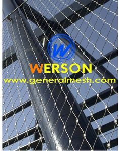 Generalmesh Webnet mesh-fyldning, kabelboring, rustfrit stål zoologiske kabinet reb mesh, x tendens mesh, x tendens kabelnet, zoo mesh, grøn væg, grøn trellis, zoo kabinet, dyrehus, black oxide mesh, spændingsnet, balustrade infill panel , railing infill panel, Zoo-Net, trappejernbane, Balustrade på trappen SUS 304 316 316L, ledning net, zoo net
