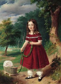 Barabás Miklós - Kisleányka babával, 1844