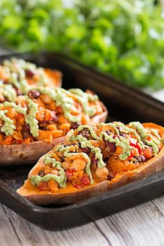 Stuffed Sweet Potatoes with Avocado Sauce