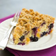 Blueberry-Peach Coffee Cake