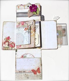 With A Grin: Scrapbooking *PIN SPIN* Mini Album in a Box (Pinterest Inspiration)
