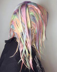 "4,479 Likes, 97 Comments - Hair | Vegas (@shelleygregoryhair) on Instagram: "" optical rainbow . . . . . . . #behindthechair #btconeshot_vibrant17 #btconeshot_pastel17…"""