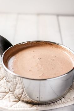 Nutella Hot Chocolate | https://cafedelites.com