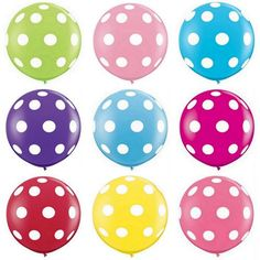 """White with Light Pink Polka Dots 36"""" Balloon"""