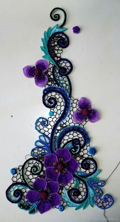 Watch The Video Splendid Crochet a Puff Flower Ideas. Phenomenal Crochet a Puff Flower Ideas. Irish Crochet Tutorial, Irish Crochet Patterns, Crochet Motifs, Freeform Crochet, Crochet Art, Lace Patterns, Crochet Designs, Doilies Crochet, Clothes Patterns