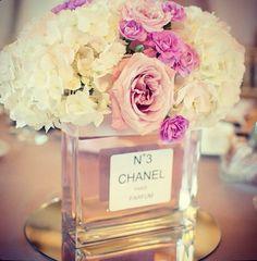 Perfume bottle centerpieces