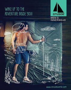 nice Crusoe Men's Innerwear Campaign on Behance. Clever Advertising, Advertising Campaign, Advertising Design, Team Presentation, Mens Innerwear, Doodle On Photo, Employer Branding, Brand Campaign, Draw On Photos