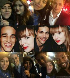 """- Fans with Kat, Dom, Alberto, Matt, Harry and Isaiah at the Toronto Film Festival party (cr: @kenzis @sphcvcz & @theshadowshunters)"""