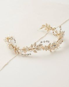 LUCIA BRIDAL HAIR VINE The epitome of feminine & floral, wedding hair piece Lucia is crafted to perfection with ornate leaves, pearls, beads & crystals along an undulating vine. Floral Wedding Hair, Bridal Hair Vine, Wedding Headband, Wedding Veils, Wedding Dresses, Cute Jewelry, Hair Jewelry, Wedding Jewelry, Hair Accessories For Women