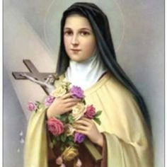 """Catholic Patron Saints: Saint Therese of Lisieux """"The Little Flower"""" Catholic Saints, Patron Saints, Roman Catholic, Catholic School, Sainte Therese De Lisieux, Ste Therese, Sanya, Religious Icons, Religious Art"""