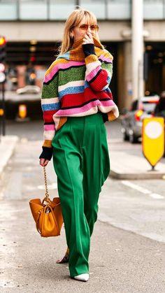 London Fashion Week Fall 2019 Street Style Day 2 - Looks , Italian Street Style, European Street Style, Look Street Style, Autumn Street Style, Street Chic, Fashion Show Street Style, Women Fashion Street, Street Style Clothing, Womens Fashion