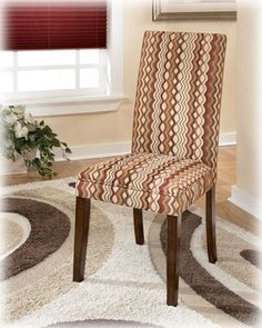 Set of 2 Sangria Upholstered Dining Room Parson Chair in wavy patern fabrtic - http://www.furniturendecor.com/set-of-2-sangria-upholstered-dining-room-parson-chair/ - Categories:Dining Chairs, Dining Room Furniture, Furniture, Home and Kitchen