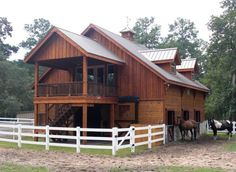 pole barns | Stall wood barn with apartment in 2nd story | Pole ...