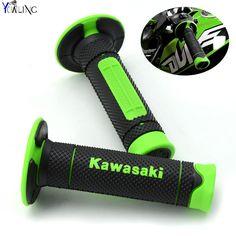 Motorrad Dirt Bike Gummibremse handgriffe Für Kawasaki KX KLX KFX KDX 65 80 85 125 250 250F 450F 450R 150 S mit Kawasaki logo