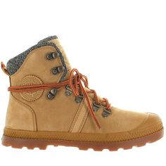 Palladium Pallabrouse Hiker LP - Amber Gold/Red/Gum Leather/Textile Hiking Boot 95140-278