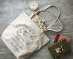 Pride and Prejudice Tote Bag Reading Quote Jane by ThornfieldHall