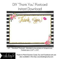 LipSense Thank You Postcard LipSense Template Instant