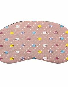 Маска для сна «Барашки» (розовая). Идея для подарка путешественнику.