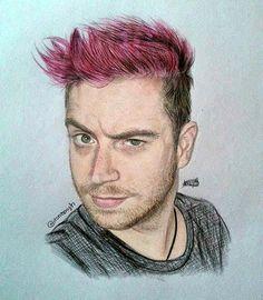 Acabei esquecendo que havia feito esse desenho. Já faz algum tempo que o rosa do cabelo do Luba desbotou, mas vou postá-lo mesmo assim porque virou um dos meus preferidos. Espero que gostem