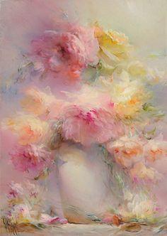 Картина пионы «Нежность»