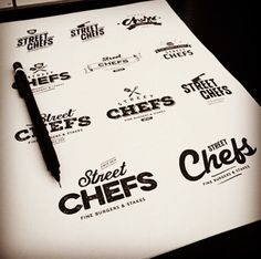 Street Chefs Logo Variations
