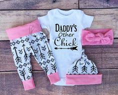 Baby Girl Coming home Outfit Daddy's Other by TheSouthernCloset101