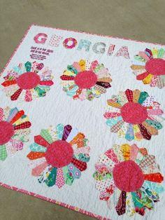 a dresden quilt, customized.  Bloom quilt.