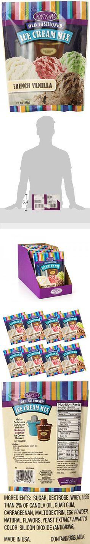 Nostalgia ICM825VAN8PK Premium French Vanilla Ice Cream Mix