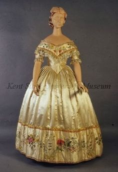 In the Swan's Shadow: Evening dress/ballgown, mid-late 1850s