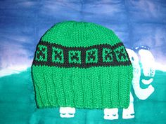 Ravelry: Minecraft Creeper Hat Chart pattern by Jan Baxter Crochet For Kids, Knit Crochet, Crochet Hats, Minecraft Hat, Kids Hats, Creepers, Knit Patterns, Baby Knitting, Ravelry