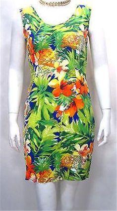 0ae0fbbcbe6 Jams World Hibiscus Pineapple Shirt Dress - XS    JamsWorld  ShirtDress   Casual Hawaiian