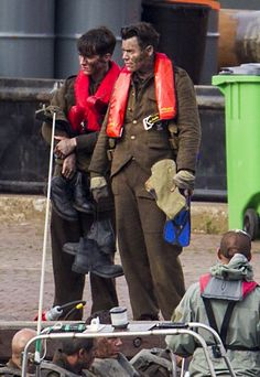 Harry and Fionn Whitehead on the set of 'Dunkirk' in Urk - July 13, 2016 (© BrunoPress)