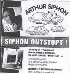 Arthur siphon business card