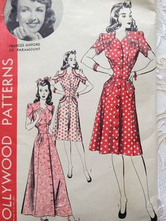 Polka dots and florals were popular fashion patterns.