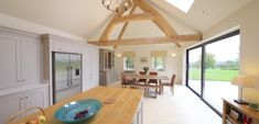 For this very special project, the large oak trusses really were the star of the show. We decided on a cruck truss design, not only because we've got the technique down to an art, but we thought this style would add something very unique to the build. After our drawings and calculations were given a thumbs up by the client, we sent our request to our mill owners in France. The crux of this project was to find 6 beams that were similar in section size and more importantly, radius. Our…