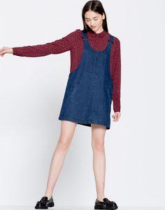 Pull&Bear - femme - vêtements - blouses et chemises - chemise imprimée manches longues - vin - 09470341-I2016