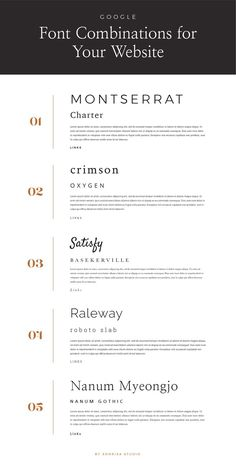 Font pairings for your website Layout Design, Graphic Design Tips, Design Design, Design Logo, Best Web Design, Email Design, Web Layout, Flat Design, Design Ideas